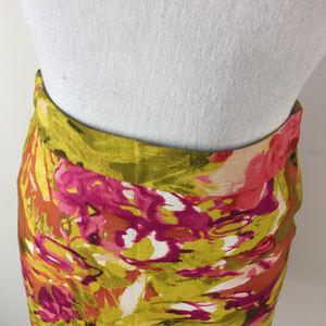 J. Crew Skirts - J Crew 0 XS Pink Mustard yellow Pencil Skirt